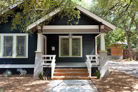 exterior design light blue front door in beautiful craftsman