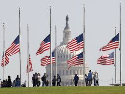 photos us flags were lowered to half staff after las vegas