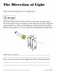 what is light in science direction of light worksheets lights and