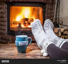 warming relaxing near fireplace image u0026 photo bigstock