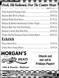 flyerboard morgan u0027s meat market weekly specials jg tc