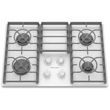 Gas Cooktop Dimensions Shop Kitchenaid Architect Ii Gas Cooktop White Common 30 In