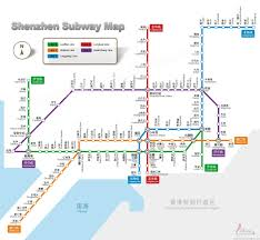 Green Line Metro Map by Shenzhen Subway Shenzhen Subway Lines