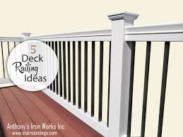 deck railing ideas designs and pictures