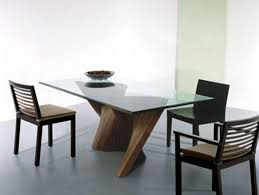 Circular Glass Dining Table And Chairs Dark Wood And Glass Dining Table Aiorce Com