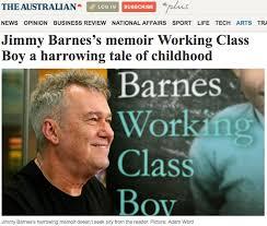 Jimmy Barnes News Jimmy Barnes U0027 Memoir Working Class Boy A Harrowing Tale Of