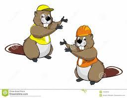 cartoon beavers two royalty free stock image image 14293656
