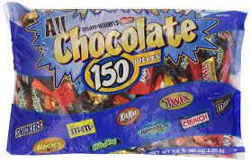 amazon com hershey u0027s all chocolate pieces 150 pcs 90 ounce bag