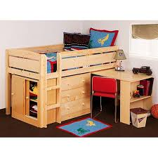 storage loft bed with desk canwood whistler storage loft bed with desk bundle natural for