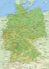 geographical map of germany political map of germany 1461 the world of maps