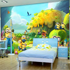 Cartoon wallpaper Minions Wallpaper Custom 3D Wall Mural