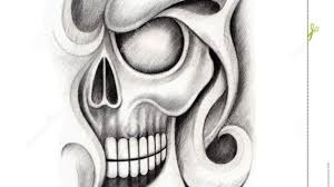pencil drawings of tattoo designs art skull tattoo stock