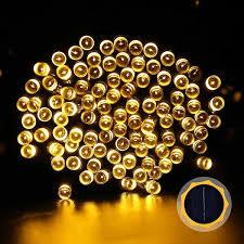 200 led solar light powered yellow led flower string lights