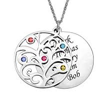 personalized family tree necklace valyria personalized family tree necklace birthstones