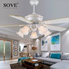 52 inch white ceiling fan with light sove 52 inch european modern white ceiling fans with lights