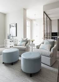 Swivel Club Chairs For Living Room Light Gray Swivel Club Chairs With Light Blue Ottomans