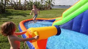 hydro rush inflatable water park by blast zone youtube