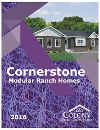 colony homes cornerstone modular ranch homes 2016 by the commodore