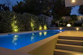 Pool Landscape Lighting Ideas by Outdoor Pool Lighting Ideas For Modern Residence Design With