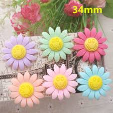 hair bow center free shipping new resin sunflower resin flatback cabochon for