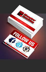 Social Network Business Card Business Card Advertising Our Social Media Pages Print Design