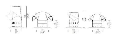 Armchair Dimensions Cassina Feltri Armchair Deplain Com