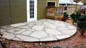 Bluestone Patio Designs by Floor Front Flagstone Patio With Painted Wood Wall And Wood