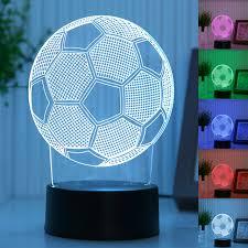 le de bureau a led 3d led le de bureau de football sport lumière de nuit pour le