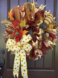 autumn wreath 2017 autumn wreath with bees tutorial trendy tree