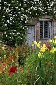 part of the cottage garden at sissinghurst castle garden with the
