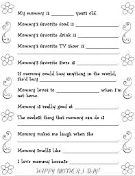 fun mother u0027s day questionnaire with free printable fun money mom
