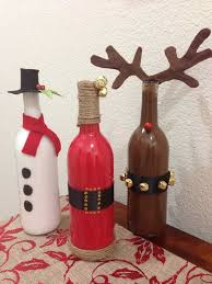 wine bottle christmas ideas 45 budget friendly last minute diy christmas decorations amazing