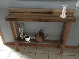 Foyer Accent Table Entryway Accent Table Recycled Pallet Entryway Table