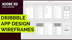 Dribbble by Adobe Xd Tutorial 001 Dribbble Wireframe App Design 10x Faster