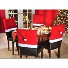 santa chair covers santa hat christmas winter table chair covers pieces ebay