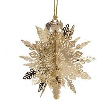 snowflake ornament 2017 chemart ornaments solid brass ornament