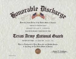 honorable discharge certificate national guard honorable discharge
