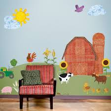 my wonderful walls wall stickers murals and stencils mommy perks farm wall mural