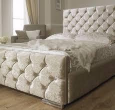Crushed Velvet Bed Premium Quality Crush Velvet Double Crushed Velvet Chesterfield