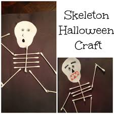 skeleton q tip craft for halloween classy mommy