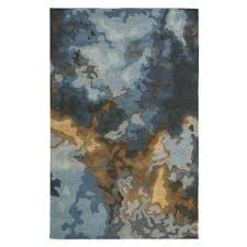 Brown And Blue Rug Home Decorators Collection Blue Area Rugs Rugs The Home Depot