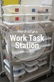 how to set up an independent work box station breezy special ed