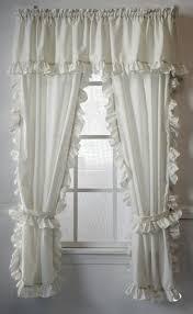 Cape Cod Curtains Cape Cod White Ruffled Curtains Paul S Home Fashions