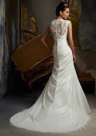 wedding dress lace back and sleeves morilee madeline gardner bridal delicate lace appliques on