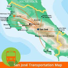 san jose airport on map san jose costa rica airport transfer sjo airport