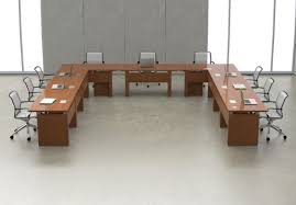 contemporary conference table wooden rectangular with