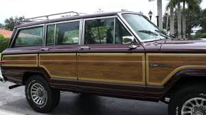 jeep burgundy interior 1988 jeep grand wagoneer burgundy burgundy youtube