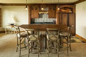 Wooden Bar Stool With Back Rustic Bar Designs Home Bar Rustic With Cowboy Art Chair Back Bar