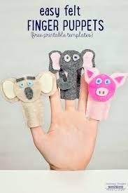 how to make felt finger puppets crafts for kids scattered