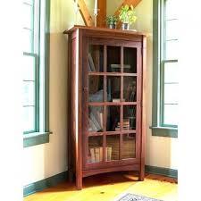 Corner Bookcases With Doors Bookcase Corner Bookcases With Glass Doors Mission Oak Bookcase